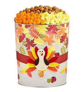 Hello Autumn Turkey Popcorn Tin