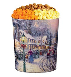 Thomas Kinkade Village Christmas Popcorn Tins